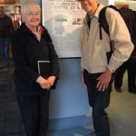 Thomas C. Sanger with Athenia survivor Heather Donald Watts, 76, at Maritime Museum of the Atlantic, Halifax, N.S., Canada. (5/4/2012)