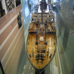 Builder's model of TSS Athenia, Riverside Museum, Glasgow, Scotland, U.K. (5/11/2012)