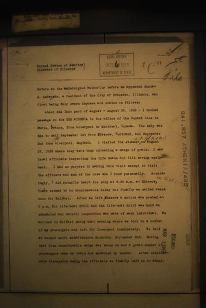 Gustav Anderson affidavit