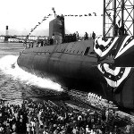 Photo credit: www.bookofdaystales.com  America's first nuclear submarine, USS Nautilus, was launched in 1954. Harold Etherington helped design the ship's nuclear reactor.