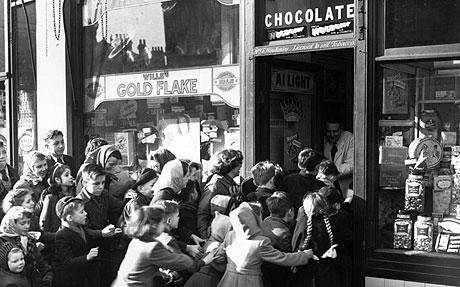 Candy rationing ended in Britain in 1953!